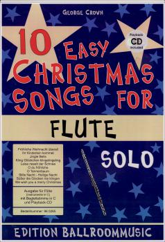 Crown, George - 10 Easy Christmas Songs For Flute Solo mit CD