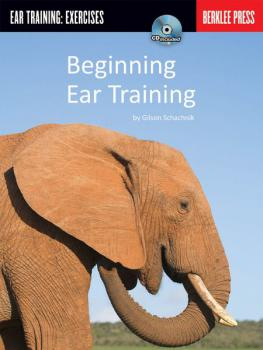 Schachnik, Gilson - Beginning Ear Training mit CD